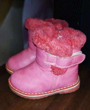 Зимние ботинки для девочки, 21 размер, 12 см стелька