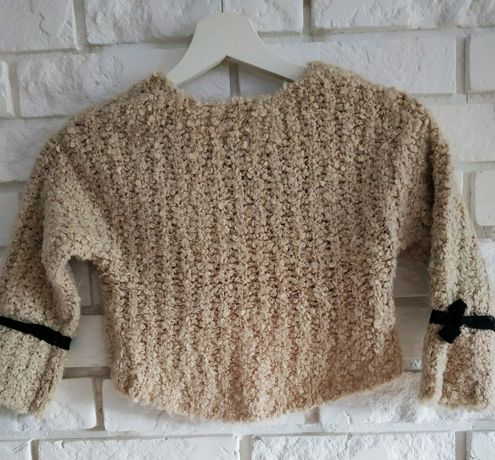 Sweterek Zara Knot collection r. 110