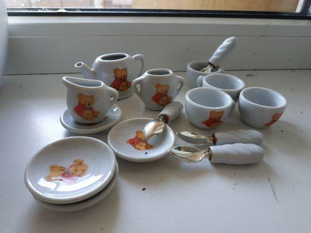 """Детская фарфоровая посуда для кукол """"Чайный сервиз"""""""