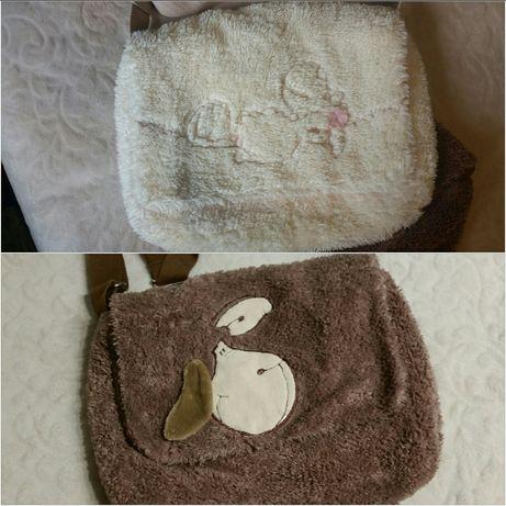Torebka Nici owieczka futerkowa brąz lub ecru milutka młodzieżowa A4