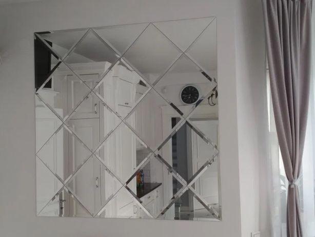 Płytki lustrzane GLAMOUR, lustra fazowane ZESTAWY 85x85cm