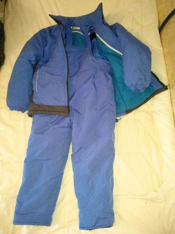 Детский зимний комплект костюм комбинезон куртка рост ~127