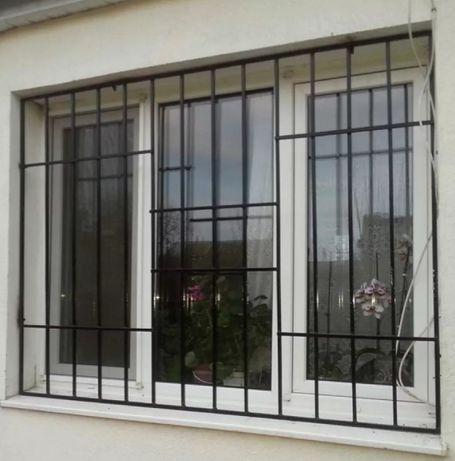 Решетки на окна, двери, кондиционер,монтаж.