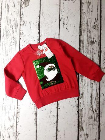 Roz. 92 Bluza Świąteczna z Mikołajem