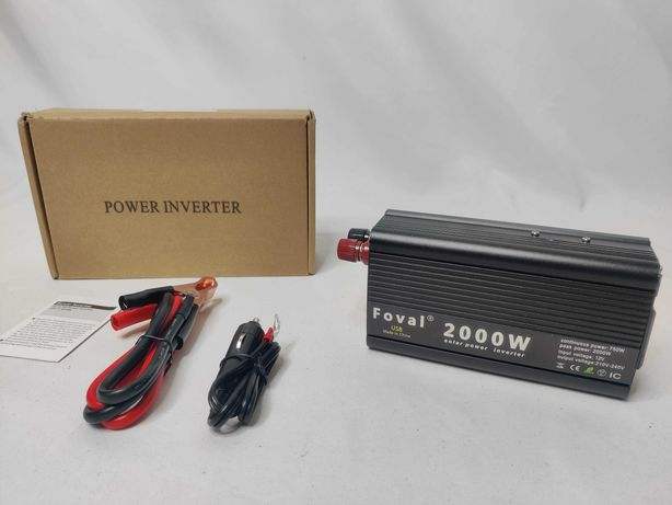 [NOVO] Inversor / Conversor Potência 750W / 2000W [12V para 220V]