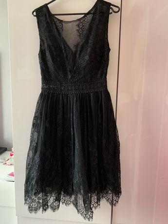 Sukienk koronka wlwgancka czarna