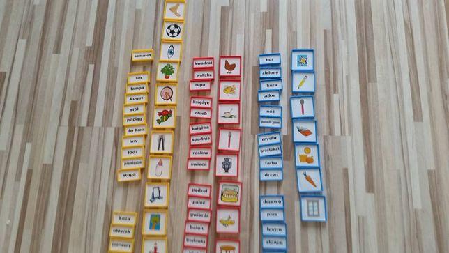 gra edukacyjna polsko niemieska ok 160 elementów