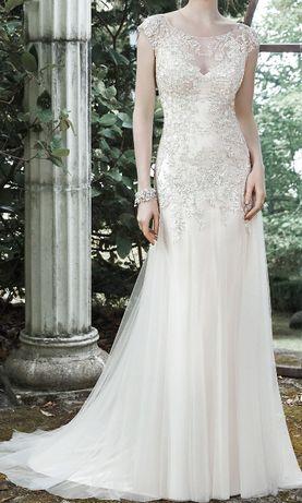 Przepiękna sukienka ślubna jedwabna Maggie Sottero model Sundance