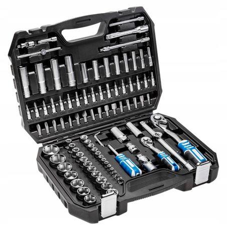 zestaw narzędziowy kluczy 1/4'' 1/2'' 95 szt. HOGERT walizka