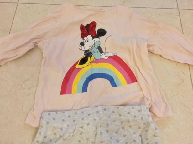 Conjunto Disney baby camisola + calças tamanho 12-18 meses