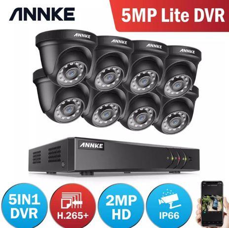 Kit Vídeo Vigilância Profissional 8 Cameras DOME BNC Exterior 1080P