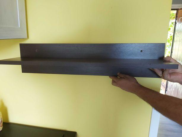 Półki ścienne 80 cm kolor wenge 3 szt