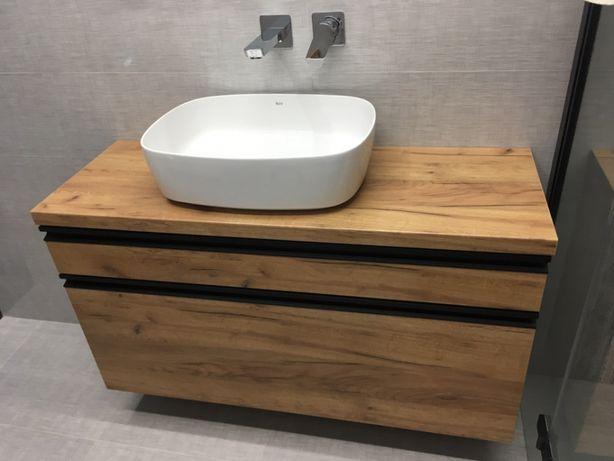 Szafka pod umywalkę -BLUM - płyta DĄB CRAFT meble łazienkowe na wymiar