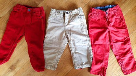 Spodnie długie hm babyGAP 86 czerwone, beżowe