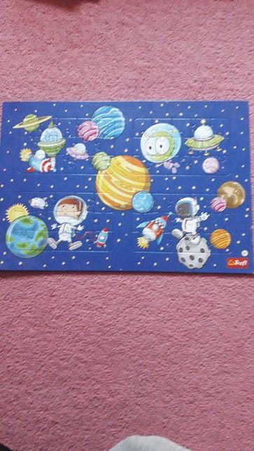 Puzzle kosmos 4 plansze po 15 el.