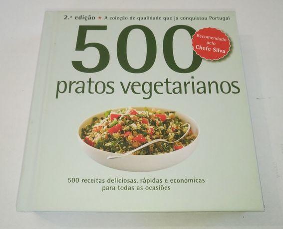 Livro 500 receitas: Pratos Vegetarianos de Deborah Gray com imagens