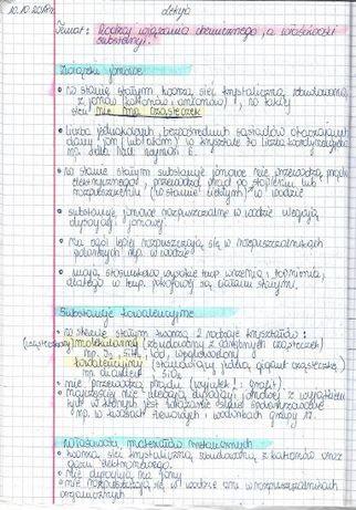 Notatki z CHEMII do matury