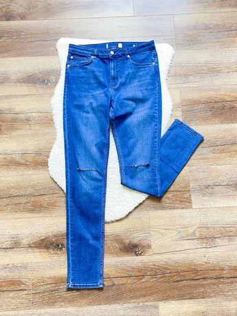 Brooklyn Supply Co: Klasycznie spodnie jeansowe rurki z dziurami W36R