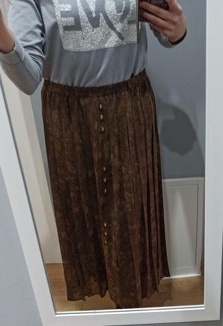 Spódnica plisowana w panterkę L/XL