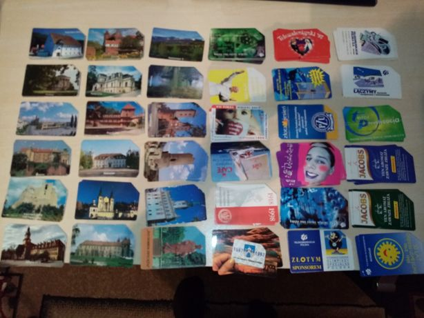 Karty telefoniczne magnetyczne TP - ponad 200 sztuk