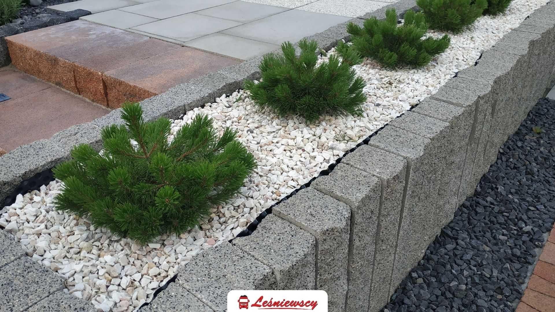 Kamień ozdobny ogrodowy BIAŁA MARIANNA 8-16mm jasny kamień transport
