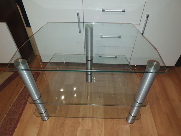 Stolik RTV szklany 49x77x58 wysokosc