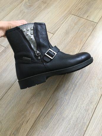 Демисезонные кожаные ботинки челси Ecco экко р. 35