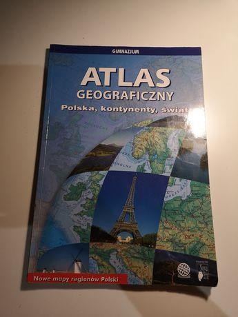 Atlas geograficzny, Polska, kontynenty, Świat