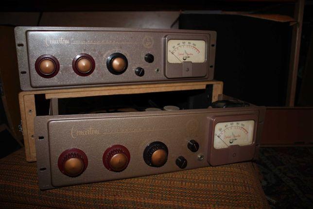 2 Pré-amplificadores Microfone a válvulas anos 50 Berlant Concertone