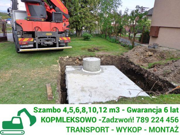 Szamba betonowe zbiorniki na szambo WYKOPEM kompleksowo Grodzisk Maz.