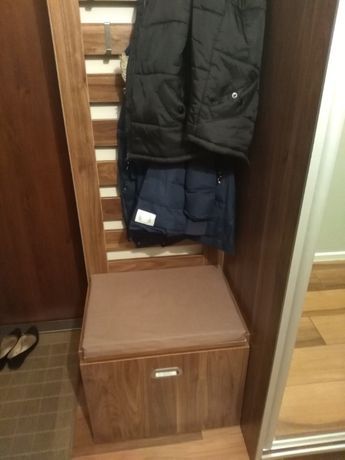 Oryginalna szafka na buty z wieszakiem na ubrania