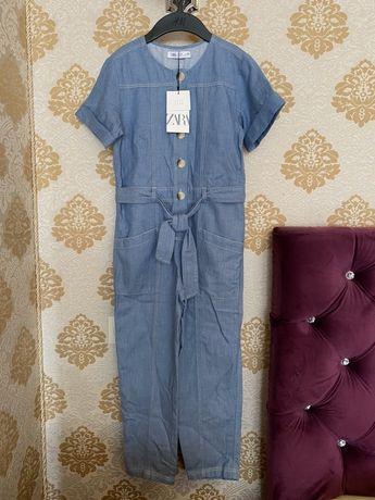 Комбенизон из ткани Шамбре Zara оригинал