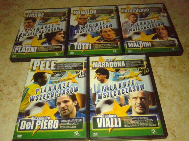 Piłkarze wszechczasów (DVD) Maradona, Pele, Zidane i inni