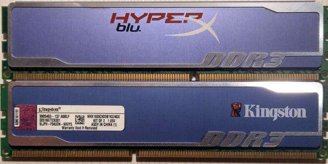 Kingston PC3-12800 4GB (2x2GB) DIMM 1600 MHz DDR3 SDRAM Memory