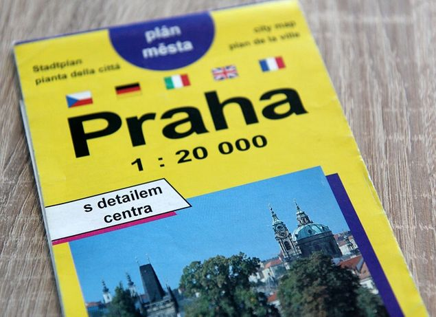 Kolekcjonerski plan miasta Praga 1997 skala1:20000