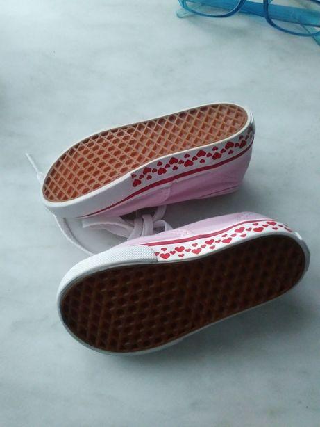 Trampki różowe buty dziewczęce Vans r. 21.5