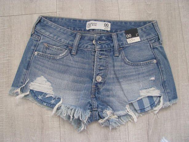 Rewelacyjne shorty spodenki damskię Abercrombie jeans roz. xs