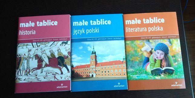Małe tablice. Historia. Język polski. Literatura polska. Adamantan