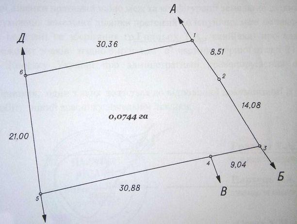 Ділянка під забудову 7,44 сот., р-н 3-й Топольний провулок