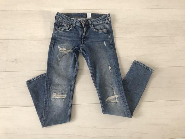 spodnie jeans H&M