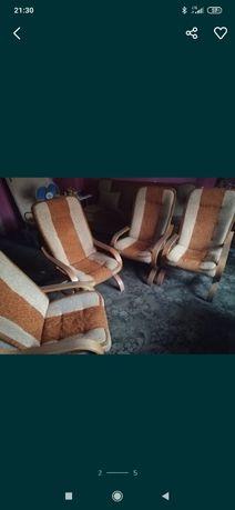 Zestaw 4 fotele i 2 wersalki