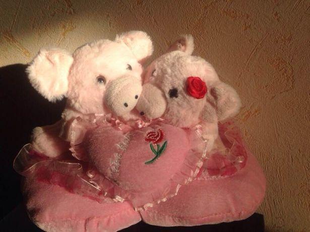 Мягкая игрушка Влюбленные свинки М'яка іграшка закохані свинки