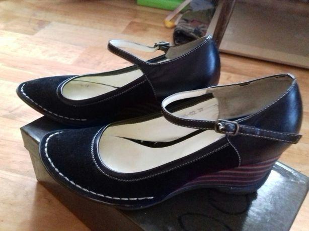 Туфли нубук и кожа. 37размер