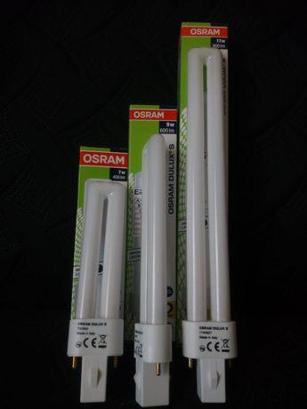 Lâmpadas fluorescentes economizadoras.