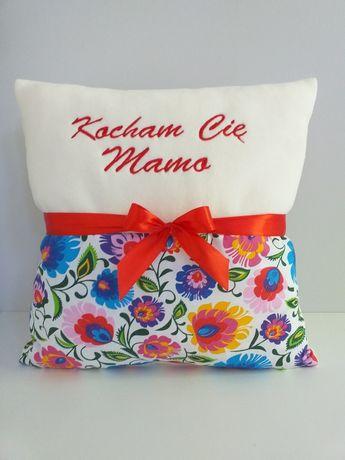 Poduszka z haftem dla mamy