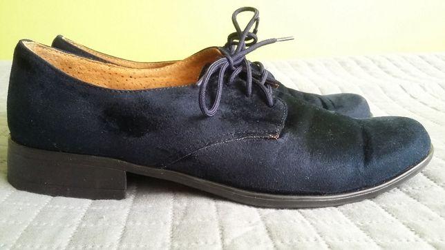 Buty eleganckie dla chłopca, komunia, skórzane, zamszowe, polskie, 34