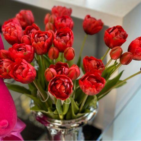Przepiękne sztuczne tulipany 5 szt w bukiecie.