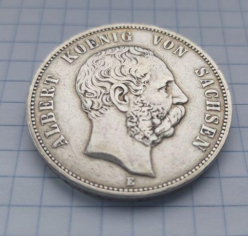 5 марок 1876г. Е ( Саксония )