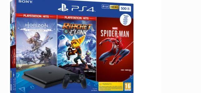 Ps4 PlayStation slim 500 +3 гри як на фото