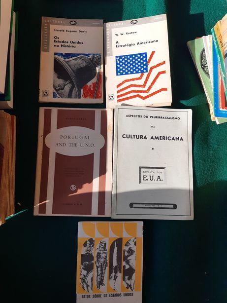 Livros antigos sobre EUA pertencentes a antiga professora